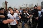 Chinese MH370 relatives protest at Malaysian embassy  - 36