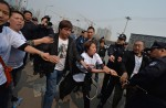 Chinese MH370 relatives protest at Malaysian embassy  - 33