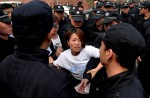 Chinese MH370 relatives protest at Malaysian embassy  - 5