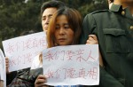 Chinese MH370 relatives protest at Malaysian embassy  - 27