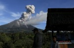 Mount Sinabung erupts - 1