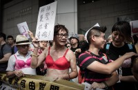 Hong Kong bra protest after woman jailed for 'breast assault'