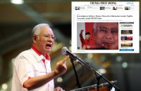 Malaysian PM Najib to take action against Wall Street Journal