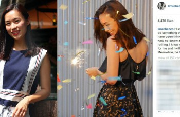Actress Rebecca Lim makes shocking retirement announcement