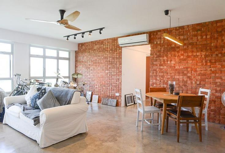 Couple Inspired By New York Lofts In Design Of 5 Room HDB Flat