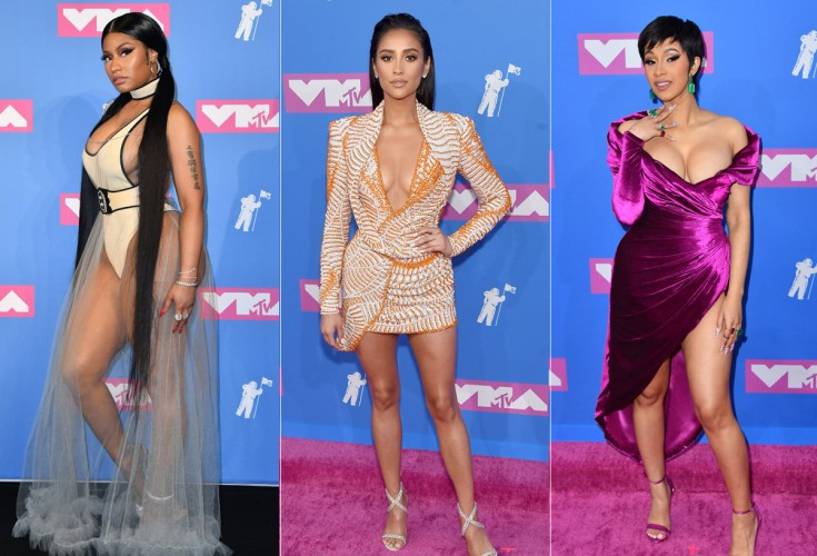 52f60906f9a34 Stars dazzle on MTV Video Music Awards 2018 red carpet