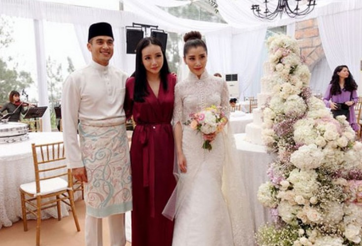 wedding of malaysian scions chryseis tan and faliq also a
