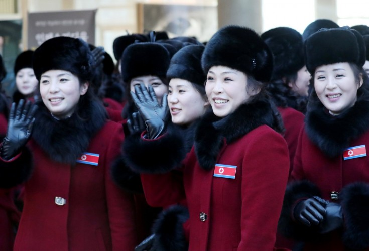 Watch wonderful North Korean cheerleaders at work