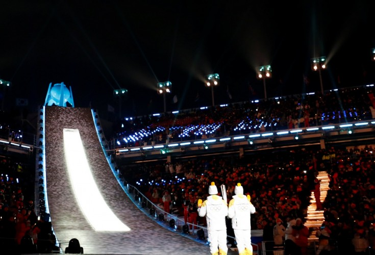 Highlights from the Winter Olympics 2018 opening ceremony                                                               Open galler