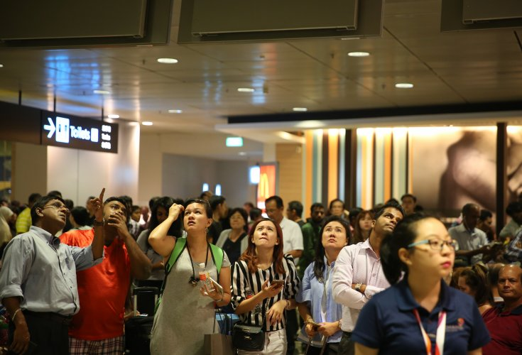 Singapore shuts airport terminal after fire; flights delayed