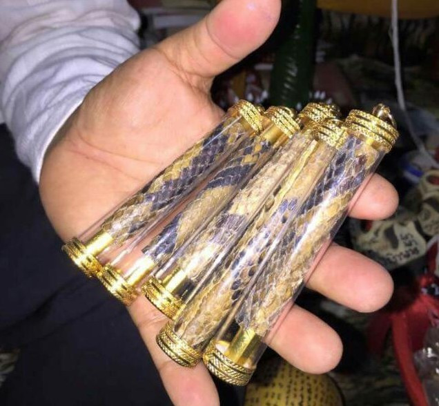 Banned amulets with animal parts like tiger's tooth sold online