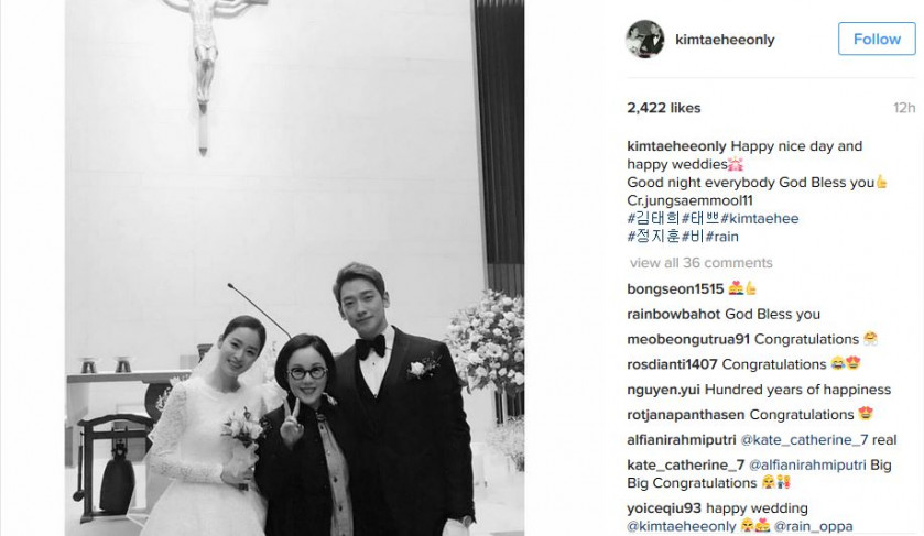 Korean singer Rain says he spent only $2,400 on his wedding