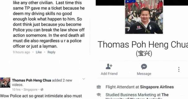 Man who criticised dead Traffic Police officer on Facebook arrested