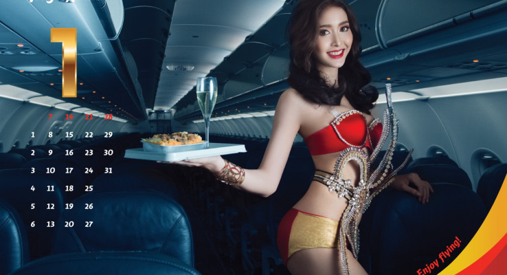 When you think of VietJet Air, bikini-clad models and stewardesses come to mind.