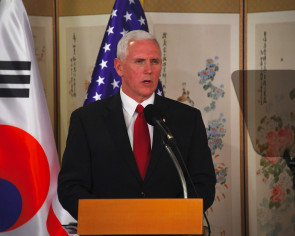 All options on table' with North Korea: Pence at DMZ