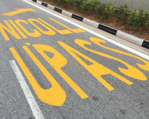 Road marking at Nicoll Highway becomes butt of jokes