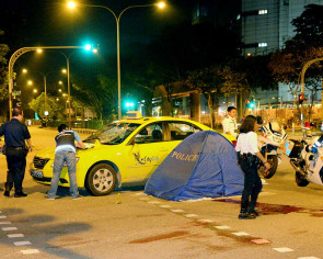 Foreign worker dies after being hit by taxi in Woodlands