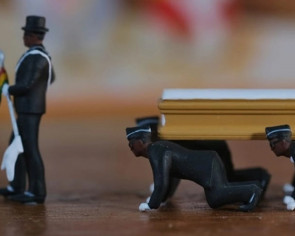 Viral Ghana dancing pallbearers are now immortalised as miniature figurines