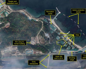 Satellite images of luxury boats further suggest North Korea's Kim Jong Un at favoured villa