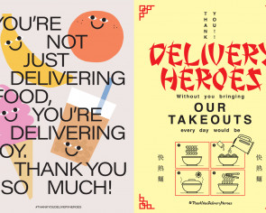 Show your appreciation to delivery folk with #ThankYouDeliveryHeroes posters