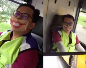This made my day: Bus captain's wacky mask delights passengers during CB