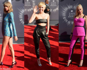 Pop's ladies take MTV VMAs stage with raunchy, upbeat performances
