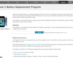 Apple rolls out iPhone 5 battery replacement program for affected users