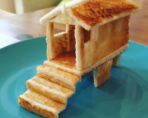 Dad turns toasts into amazing sculptures for daughter with severe allergies