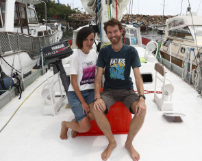 Couple seeing the world without flying seek boat ride out of Hong Kong