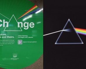 Man accuses MOE ad of copying Pink Floyd album cover, retracts after netizens explain prisms