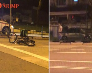 Rider of power-assisted bicycle unconscious after getting hit by car in Jalan Kayu