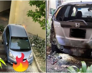 Driver left with $4,000 bill after rented car catches fire from joss sticks in Punggol