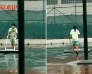 MOM responds after resident spots domestic helper drying, cleaning condo tennis court multiple times