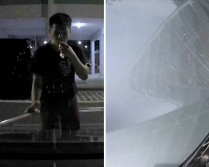 Man swings stick around and uses it to 'draw' on car in Yishun, police investigating