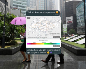 Useful Telegram chatbot tells you where it's raining in Singapore