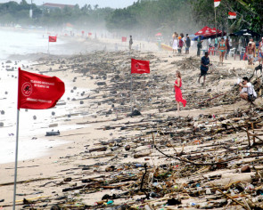 18 tonnes of trash collected in 3-day coastal cleanup at Bali's Kuta beach