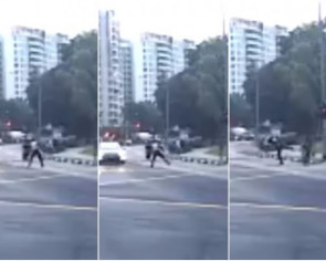LTA investigating clip of officer seen kicking PMD rider off e-scooter in Bedok