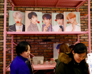 K-Pop fans brave Seoul's Christmas chill to buy BTS 'merch'