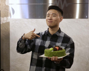 Korean star Kang Gary in Singapore for cafe opening