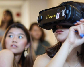 Virtual reality is being used to help girls deal with sexual harassment on campus, and Monica Baey approves