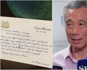 PM Lee pens Valentine's Day note to healthcare workers at front line of coronavirus