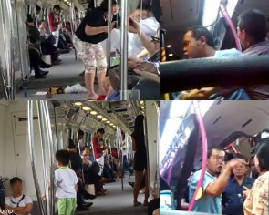 Commuters behaving badly on public transportation