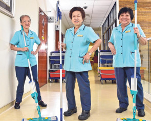 Long-serving housekeepers who are happy to stick to their job for decades