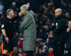 Football: Arsenal manager Arsene Wenger charged with misconduct for shoving fourth official during Burnley game