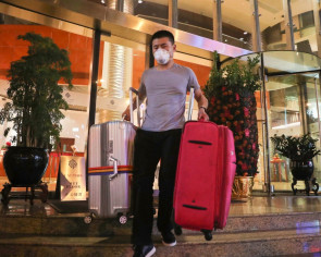 Guests leave Hong Kong hotel connected to city's first coronavirus infection