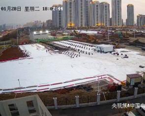 Live from Wuhan: Millions tune in to watch China build hospitals
