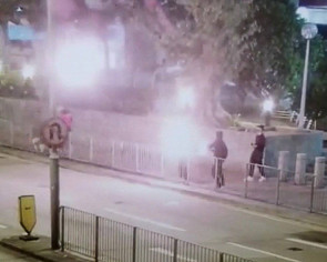 Hong Kong protests: Petrol bombs thrown at Kwai Chung Police Station