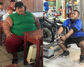 Indonesia's fattest kid loses 110kg