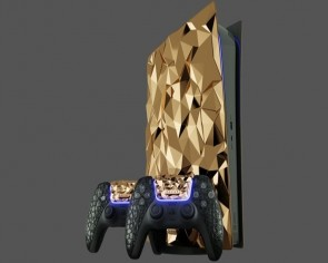 Caviar's new Golden Rock Edition PlayStation 5 is plated with 20kg of 18-karat gold
