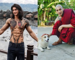 Burmese actor-model sends internet into frenzy even after shaving head and wearing monk robes